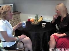 Carol & Elaine have Cucumber Fun