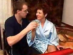 Hairy German - dady fuks daughter & young Man
