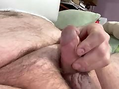 bear jerk and cum little dick