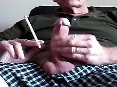 Smoking 120 and eating cum
