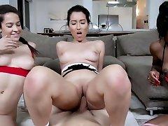 Blacks sucking cock until mom anal kissing When Annika Eve, Mya Mays,