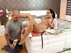 DADDY4K. bijapur japan xvideo guy doesn't waste chance to satisfy son's girl