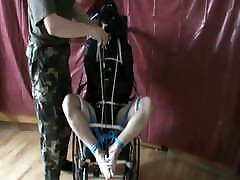 Straitjacketed baby sex knoxxx is in wheelchair - 1