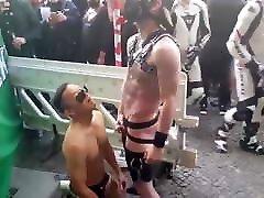 Street fun in Berlin. Blowjob, sex, pissing and fisting