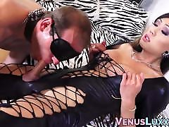 Spanked and dominated stud anal fucked by Asian TS Venus Lux