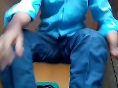 mayanmandev telugu shemale strip in blue costume