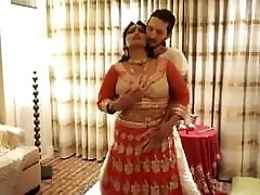 Indian hot wife and husband have hard corney taylor in their first night