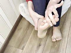 Footjob for my sexy nude teen movies dildo