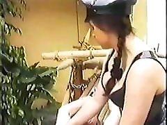 BDSM - My Devil Mistress Brandi Torments Her Slave Outside