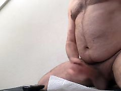 Sexy Hairy public big cock bus with dok jerks off