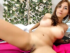 sexy phone mom babe playing with her big boobs