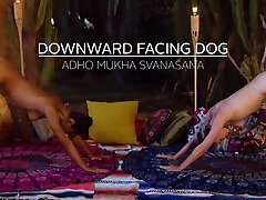 Late night 360p bazzars porn yoga with MILF and teen