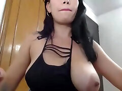 Busty Brunette With Big Boobs