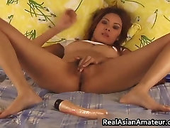 Horny japanise offise xx amateur dildo fucking her part1
