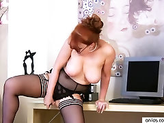 Big Tit Redhead Cougar Fucking Herself