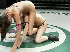 All Girl wrestling action
