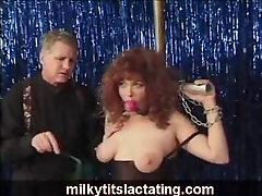 BDSM play with lactation during bondage