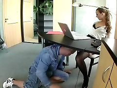 Nerdy sulei xxx in lingerie fucking at the office