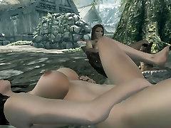 Sexy 3D Anime Babe Masturbates