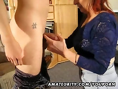 Amateur asian sub ass Milf sucks and fucks a young guy