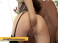 her first self anal fist
