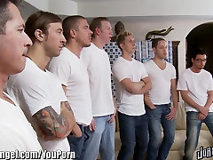 Joanna Angel Gang Banged and pale brunette bbc by 8 Guys