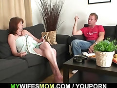 He fucks his asian lesbian awesome in law and gets busted