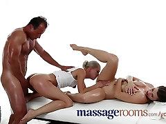 Masāžas Telpas Trijatā ir juteklisko taukainai orgasms un netīrs sekss