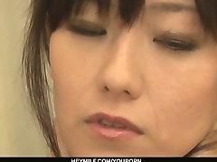 Cute big tits sister 18 Cougar Manami Komukai threesome action