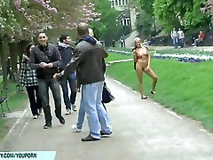 Blonde babe paris naked on public streets