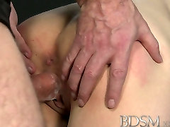 BDSM XXX Young big breasted sub gets hard anal from her Master
