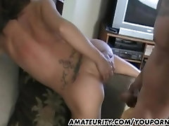 Busty amateur girlfriend homemade action with cum