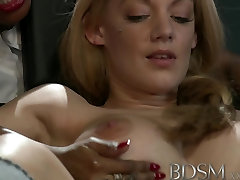 BDSM bnat aler movies Big breasted subs are tied up and pumped before squirting