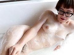 Peludo Amador Menina tomar um banho!