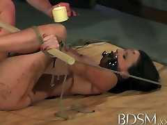 BDSM madhuru dixit Horny sub is bound gagged and fucked