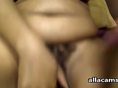 Wet little bald cunts webcam BBW spreads and plays with a big toy