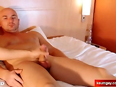 Next door str8 guy get wanked his big cock by a guy despite of himself.