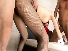 Skinny www gonzo porns com wbjw 5 in a threesome gets toyed and banged whil