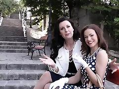 Classy lifting russian British lesbo MILFS pussyrubbing