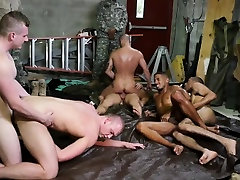 Army studs groupfuck after wrestling training