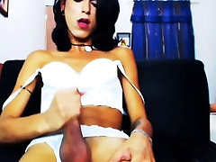 Loads of hot jizz by horny transsexuals