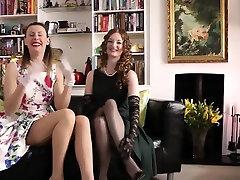 Box lick stockings brit