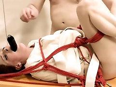 stunning dildo anal sex with rope BDSM teacher