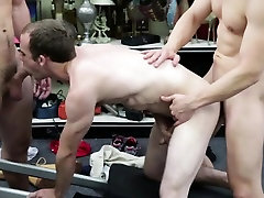 White handsome dude blows two huge cock