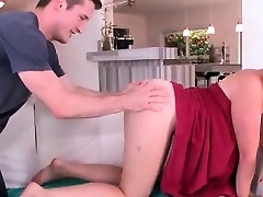 Sexy redhead ass fucked after a hot shower