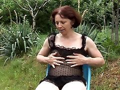 old kohinur islam masturbing in garden