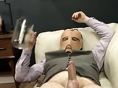 delicate BDSM anal action with rope and fucker