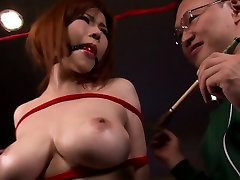 Bound 5star hotel foking oiled orgy party cum splattered
