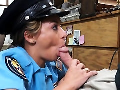 Latin police officer gets her pussy screwed by pawn guy