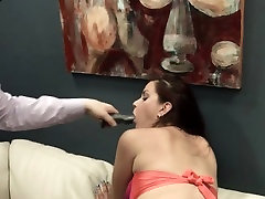 beautiful BDSM anal action with rope and fucker